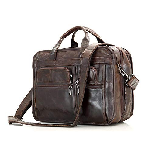 Moda Tote In Mans Pack Bag Borsa Circlefly Cuoio Crossbody Retrò Pelle Europeo Business AqwqX5F