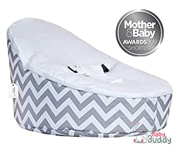Super Baby Bean Bag Bouncer Chair By Baby Buddy Toys Pre Filled Snuggle Bed With 2 Removable Covers Harness Grey White For Kids Children Infants Gmtry Best Dining Table And Chair Ideas Images Gmtryco
