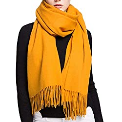 Fashion Luxurious Cashmere Stole Scarf Long Soft Shawls Wrap For Women And Men Golden