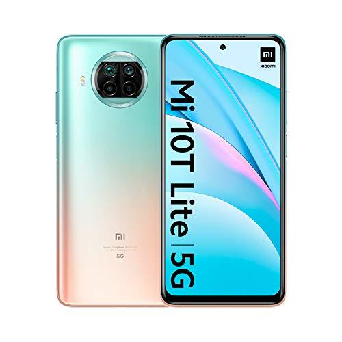 Xiaomi Mi 10T Lite 5G – Smartphone 6+128GB, 6,67″ FHD+ DotDisplay, Snapdragon 750G, Cámara cuádruple de 64 MP con IA, 4820 mAh, Rose Gold Beach (Versión oficial), con Alexa Hands-Free
