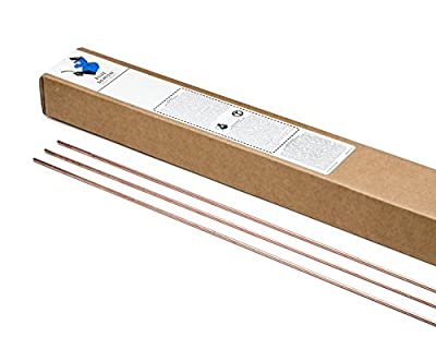 "Blue Demon ER70S-2 x .030 x 36"" x 10# Box Premium Carbon Steel Tig Welding Rod"