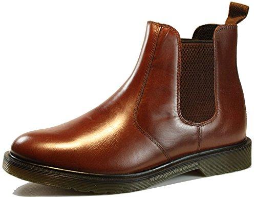 Oaktrak - Botines chelsea de cuero hombre, color marrón, talla 41.5