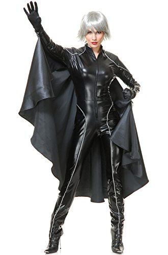 Charades Women's Thunder Super Hero with Cape, As Sample, Medium (X Men Adult Costumes)