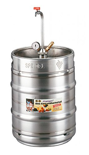 Stainless Steel 50 Litre/5 Gallon Pressure Barrel/Beer Keg With