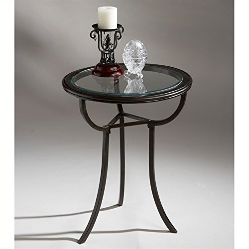 Butler Specialty Company Metalworks Accent Table, Black Butler Specialty Company Pedestal