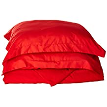 Elegant Comfort Elegance Linen 1500 Thread Count Wrinkle Resistant Ultra Soft Luxurious Egyptian Quality 3-Piece Duvet Cover Set, Full/Queen, Red