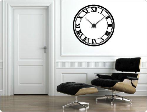 dekodino Wandtattoo-Uhr Römische Zahlen