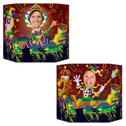 [Mardi Gras Photo Prop (1 side male; other side female) Party Accessory  (1 count) (1/Pkg)] (Mardi Gras Decorations)