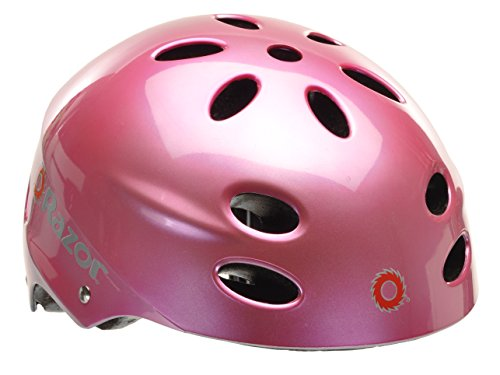 Razor V17 Youth Muli-Sport Helmet, Gloss Pink (Child Bike Helmet)
