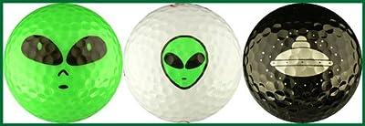 Aliens w/ Spaceship Variety Golf Ball Gift Set
