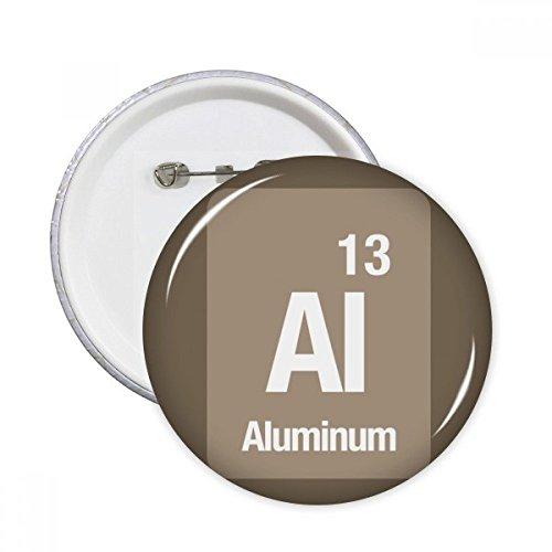 Al, chapa redonda de aluminio químico para decoración de ropa, 5 unidades, Multicolor, S