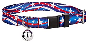 Country Brook Petz Star Spangled Feather Weight Cat Collar