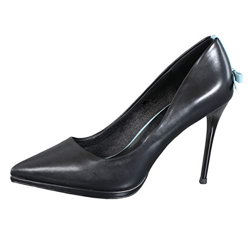 mouth tie single pointy shallow shoes shoe heel heel high thin 10CM LBTSQ bow Thirty Trendy six zqw75P