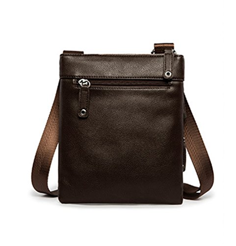 Purse Brown Leather Multi pocket Contrast Bag Color Men Anguang Work Shoulder Pu Crossbody Cpx7wf0pq