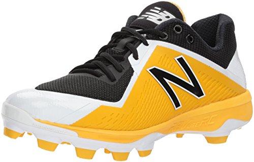 New Balance Mens Pl4040v4 Gjutna Baseball Skor Svart / Gul