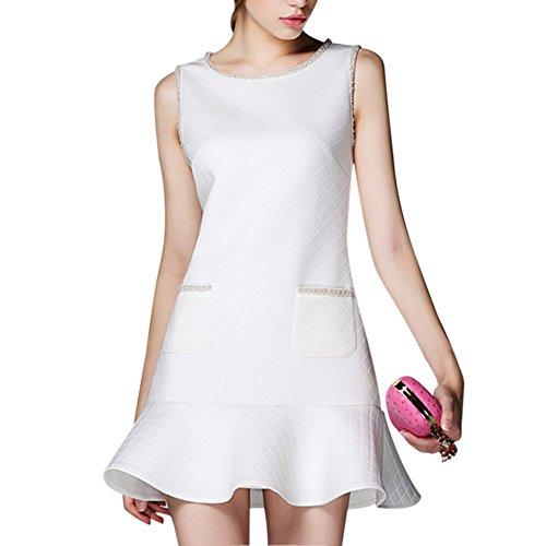 GEORGE BRIDE 2015 New Style Diamond Check ruffle purfle dress
