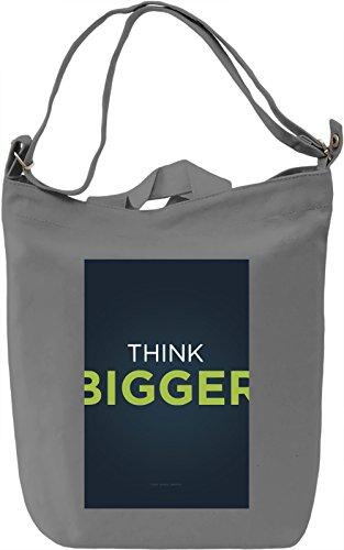 Think bigger Borsa Giornaliera Canvas Canvas Day Bag| 100% Premium Cotton Canvas| DTG Printing|