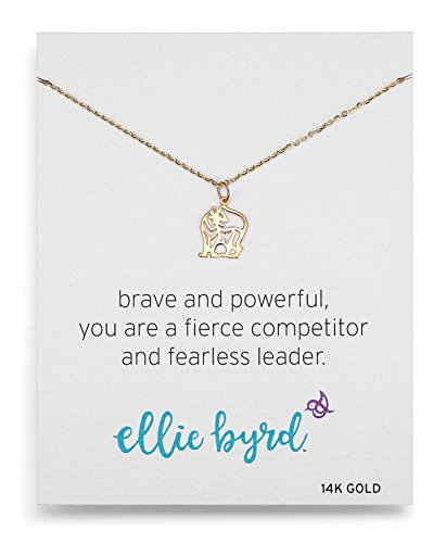 ellie byrd 14k Yellow Gold Tiger Pendant Necklace, 18