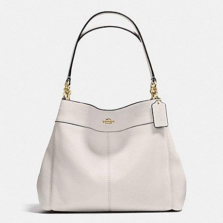 COACH Gold / Chalk Lexi Shoulder Tote Bag in Pebble Leather IMCHK -