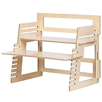 DEVAISE Standing Desk Converter - Adjustable Standing Desk Riser, Ergonomic Sit-to-Stand Workstation