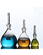 Specific Gravity Bottle, Glass Pycnometer 10ml/25ml/50ml/100ml Flat Bottom with Perforated Stopper Borosilicate Glass