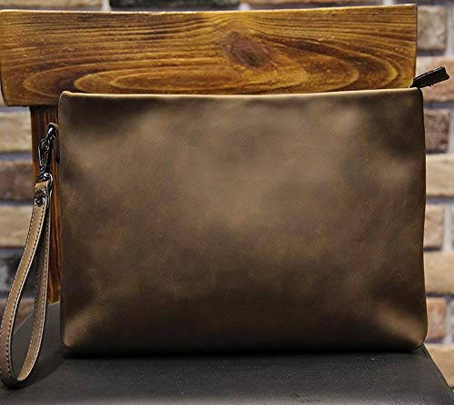 3bd01af16b6 Image Unavailable. Image not available for. Color: Badenroo 2017 New Male bag  Envelope Clutch Crazy Horse Leather Business Men Bags Casual Large Capacity