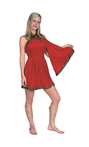 RG Costumes Women's RG Roman Toga Adult Red Large Costume, 12-14 -