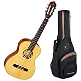 Ortega Guitars R121-3/4 Family Series 3/4 Body Size Nylon 6-String Guitar with Spruce Top and Mahogany Body, Satin Finish