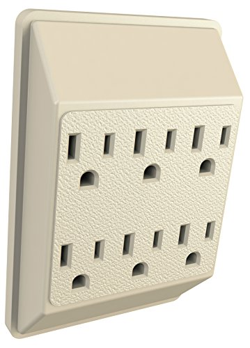6 Outlet Extender Wall Adapter - Multi Plug Splitter Grounded Electrical Converter Slots for Heavy Duty Grounding for Kitchen, Household, Workshops, and Appliances by Garry Tools (Image #6)