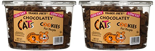 2 Pkgs. Trader Joe's Chocolatey Cat Cookies for People Net Wt. 16oz (1lb) 454g