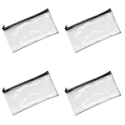 MMF Industries Vinyl Zipper Wallet, 11 x 6 Inches, Clear (234041720), 4 ()