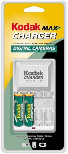 Kodak K600 C+2 Kodak Max Charger with 2 AA Ni-MH Kodak Max R