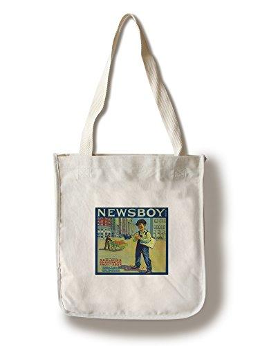 Newsboy Orange Label (100% Cotton Tote Bag - (Newsboy Bag)