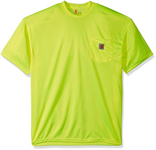 Carhartt Men's Big-Tall Hi-Visibility Force Color Enhanced Short Sleeve T-Shirt, Brite Lime, ()