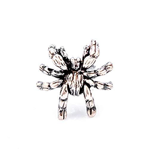 92.5 Silver Jewelry - Silver(92.5%) Vintage Dark Spider Earring Tarantula Jewelry Stud Earrings