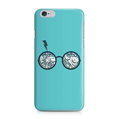 COVER Potter Blitz Brille türkis Design Handy Hülle Case 3D-Druck Top-Qualität kratzfest Apple iPhone 6 6S