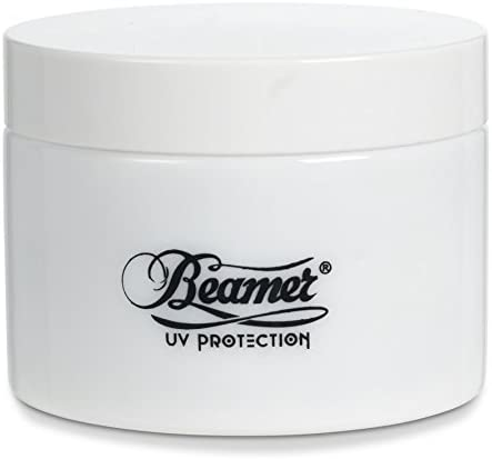 Beamer Smoke 250 ml White UV Protection Airtight and Smell Proof Glass Jar with 2 lids, Outer lid and Inner lid. Protects from Ultraviolet Light Essential Oils, Tobacco, Herbs Spices Makeup Stash Jar