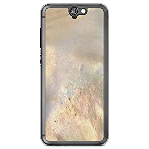 HTC One A9 Transparent Edge Phone Case Elegant Texture Phonce Case Gold Marble Phone Case Dark Phone Case Black Gold A9 Cover with Transparent Frame