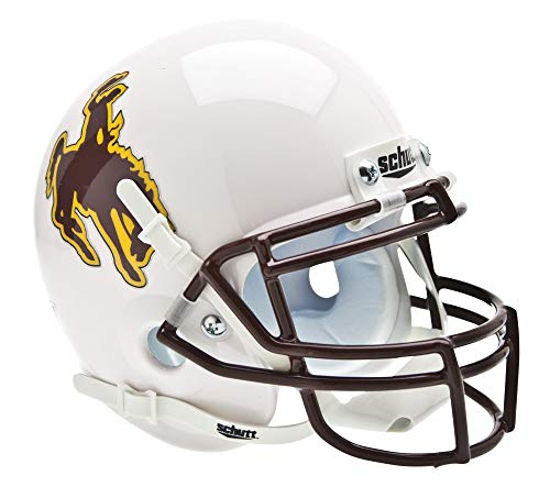 Schutt NCAA Mini Authentic XP Football Helmet, Wyoming Cowboys
