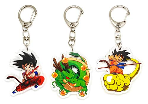 EBTY-Dreams Inc. - Set of 3 Dragon Ball Z (DBZ) Anime Acrylic Keychain Son Goku, Shenlong (Shenron)
