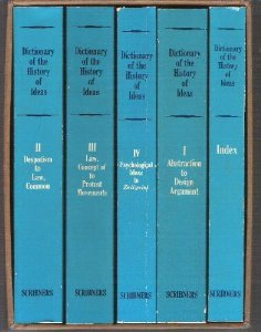 Dictionary of the History of Ideas 5 Volume Set, Philip P. Wiener