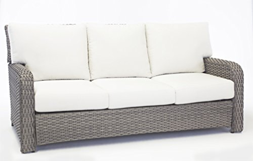 South Sea Rattan Stone St. Tropez Sofa, Canvas
