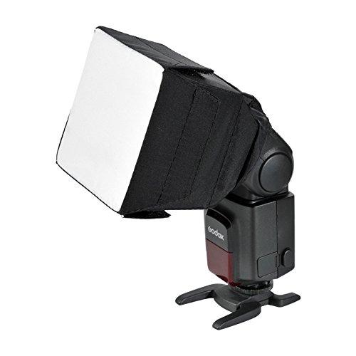 Godox Flash Diffuser Light Softbox 4x4 inch(Universal, Collapsible) for Canon, Nikon and Godox etc. Speedlight Flash
