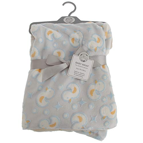 Snuggle Baby Baby Boys/Girls Duck Design Wrap (29.5in x 39in) (Gray/Blue/Yellow)