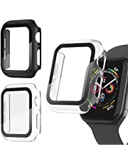 Adepoy 3 Pack Apple Watch case with Screen Protector for Apple Watch 38mm Series 3/2/1, Full Hard Cover Ultra-Thin Bumper HD Clear Protective Film Scratch Resistant for Women Men iWatch