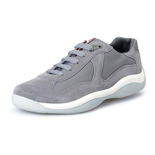 Suede Sneakers Prada - Prada Men's Gray Suede Leather Fashion Sneakers Shoes US 9.5 IT 8.5 EU 42.5