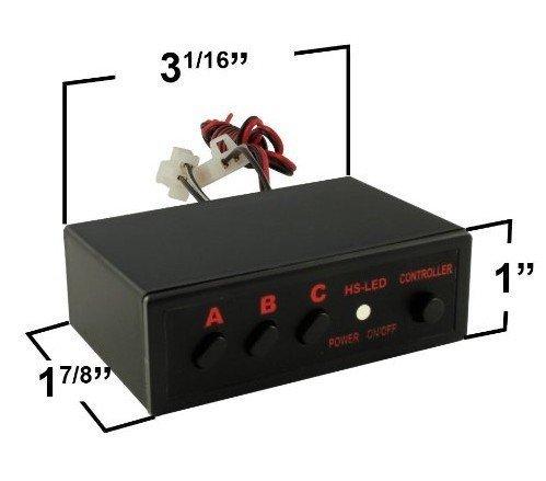 6 LED Sinlge Strobe (3 in 1) and 18 LED Strobe (9 in 1) Truck Boat Car Strobe Lights 2 housing Control Box