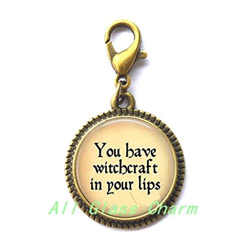 Charming Zipper Pull,Beautiful Zipper Pull,Quote