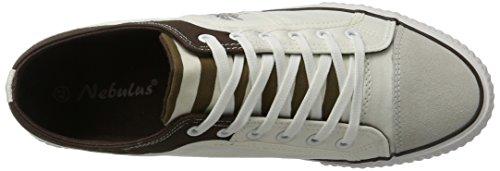 Nebulus Maritime, Baskets Homme Multicolore (Weiß-braun 003)