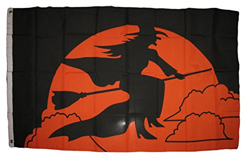 ALBATROS 3 ft x 5 ft Halloween Witch Broom Flag House Banner Grommets for Home and Parades, Official Party, All Weather Indoors Outdoors